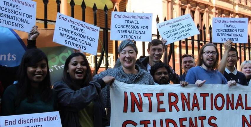 International students demand travel concessions