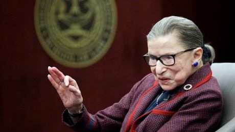 Supreme Court justice Ruth Bader Ginsburg 'up and working' after fall