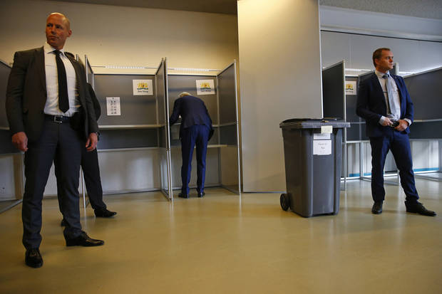 The Latest: Poll of polls puts Dutch PM Rutte ahead