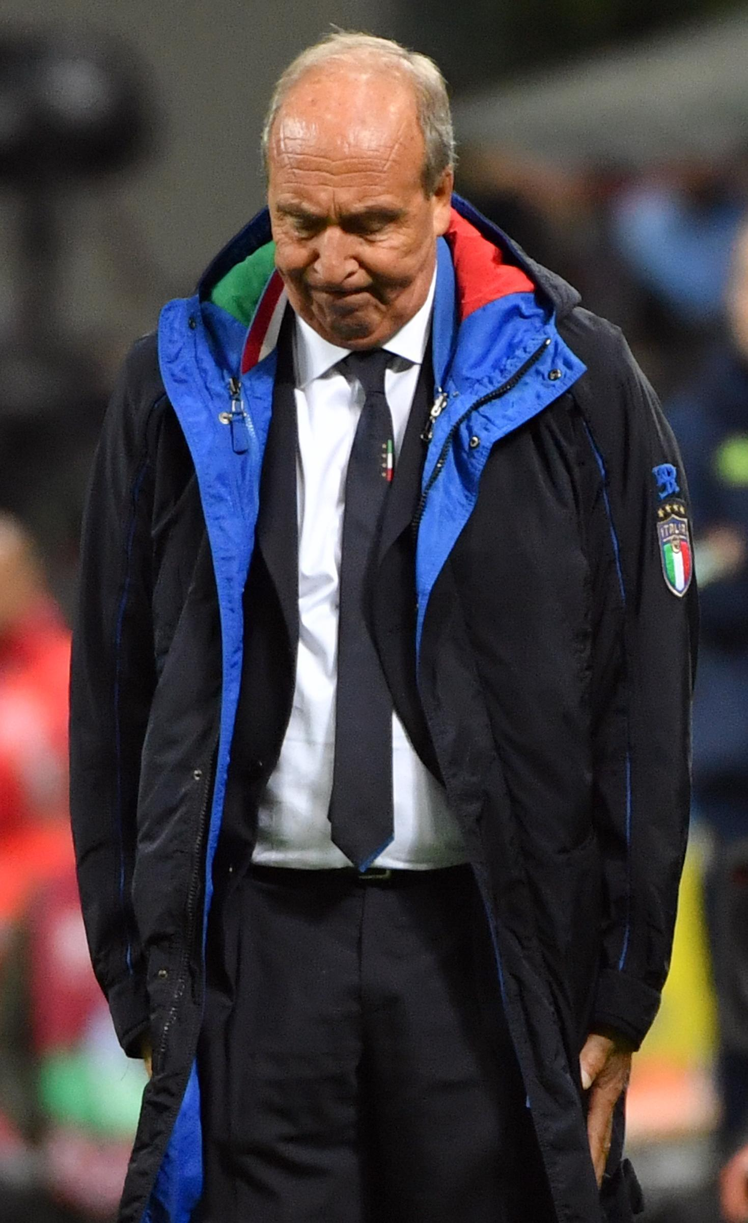 Italy coach Gian Piero Ventura fired after missing World Cup place