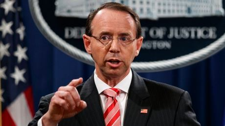 Rod Rosenstein may quit or be fired as U.S. deputy attorney general
