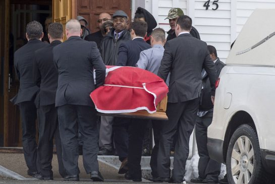 Funeral held for former soldier in Nova Scotia murder-suicide