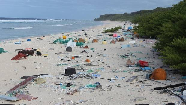 Millions of pieces of plastic piling up on pristine Pacific island