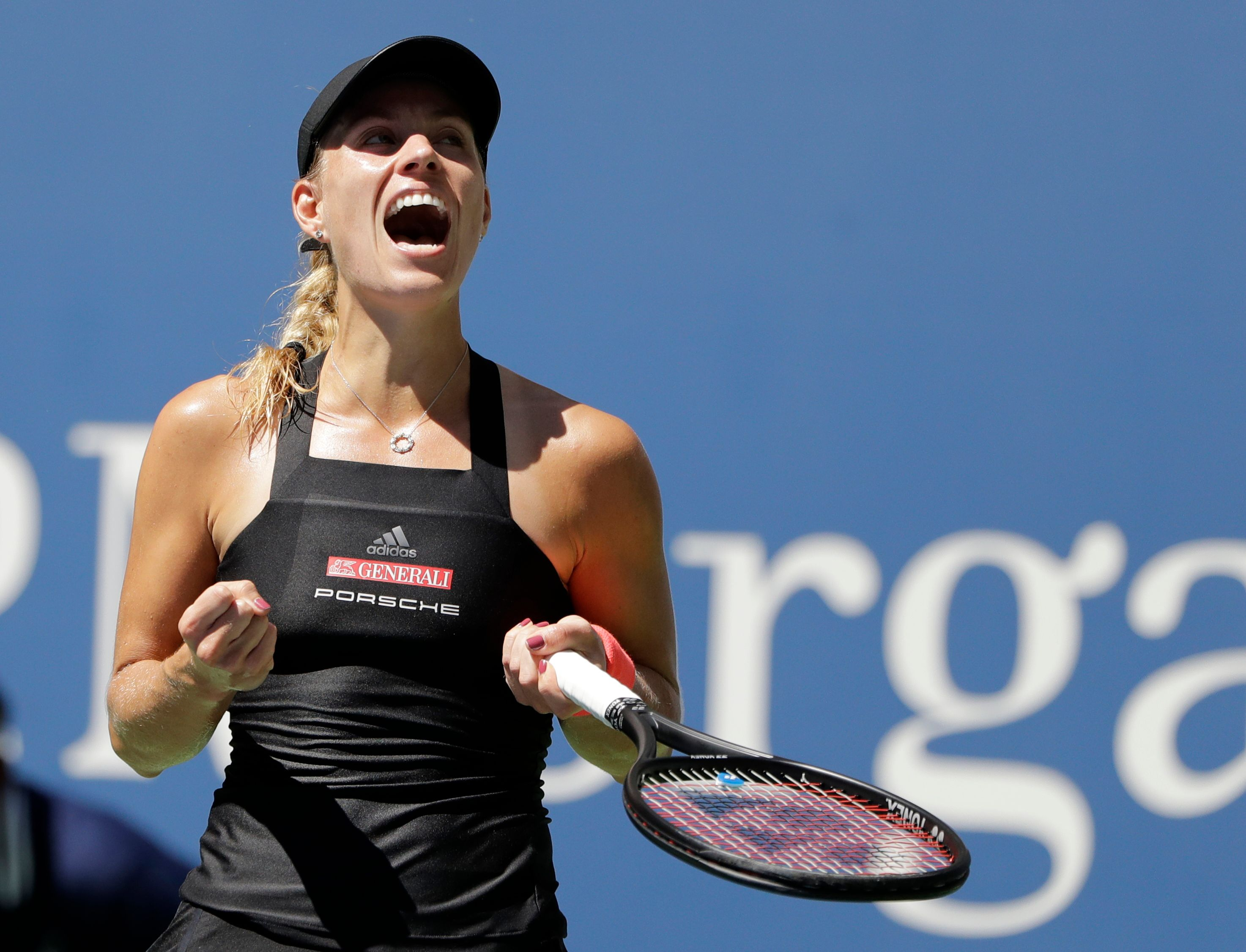 The Latest: 2016 champ Kerber into US Open's 3rd round