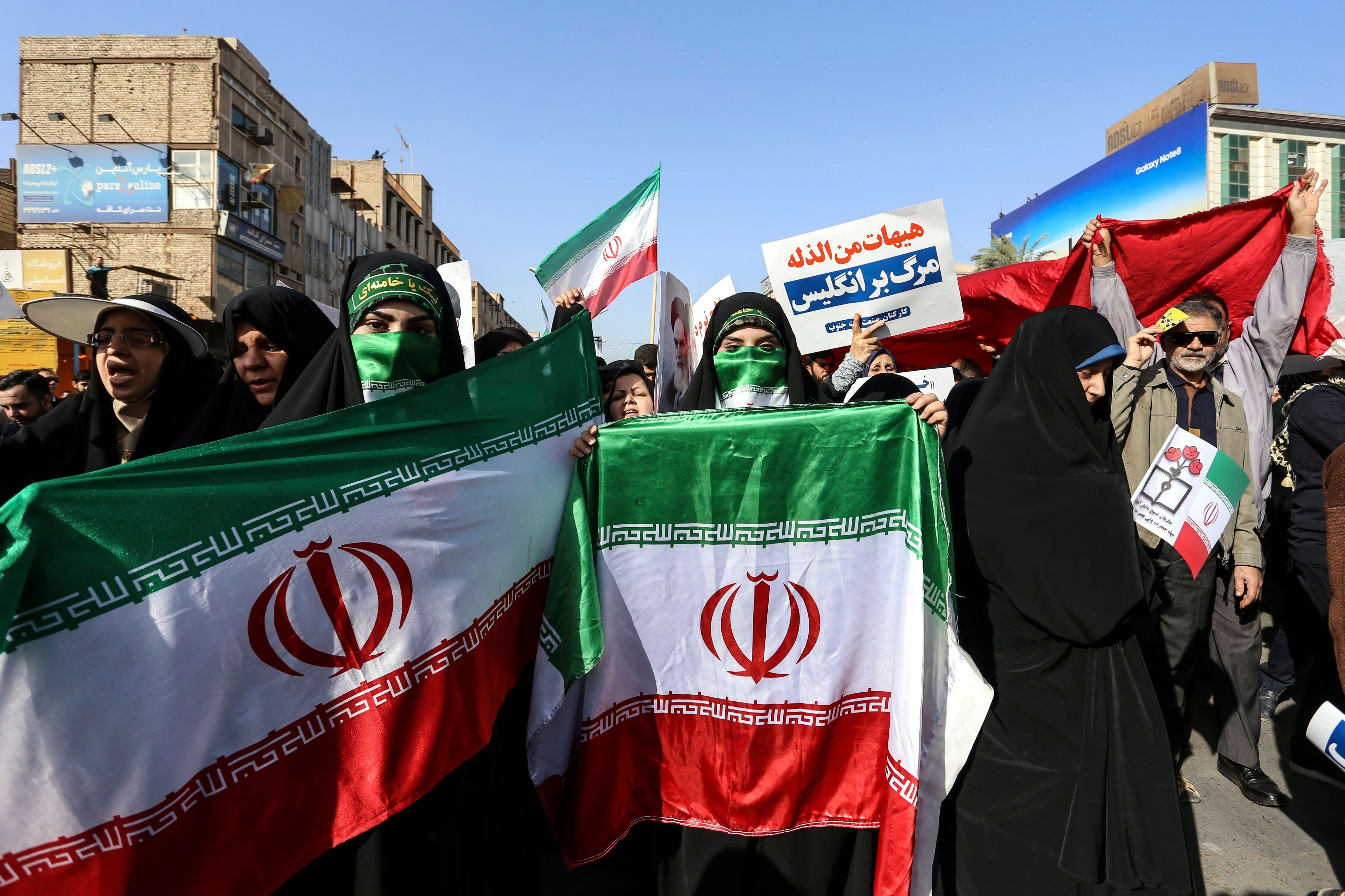 Iran protests: State TV broadcasts pro-government rallies