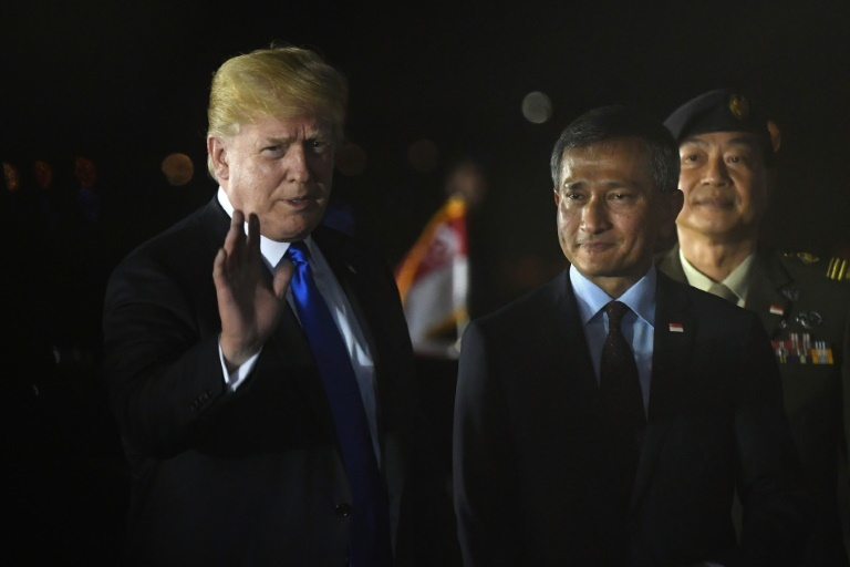 Trump, Kim land in Singapore ahead of high-stakes summit