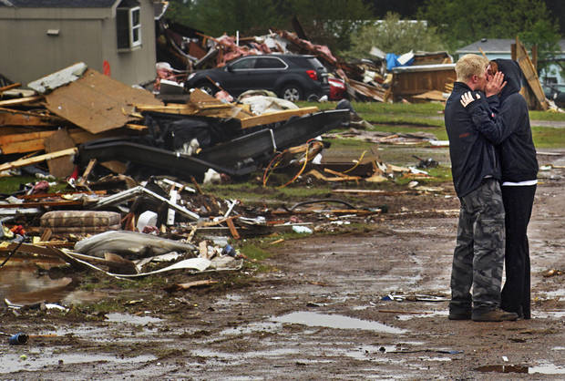 The Latest: Oklahoman says he was lucky when tornado struck