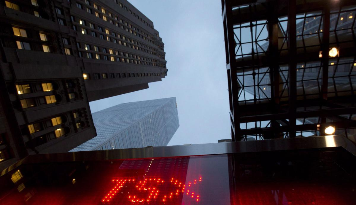 Stock indexes up sharply in Toronto, New York; loonie down