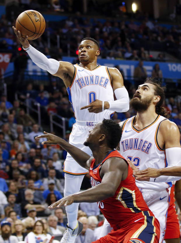 Russell Westbrook leaves Thunder-Pelicans with left leg injury