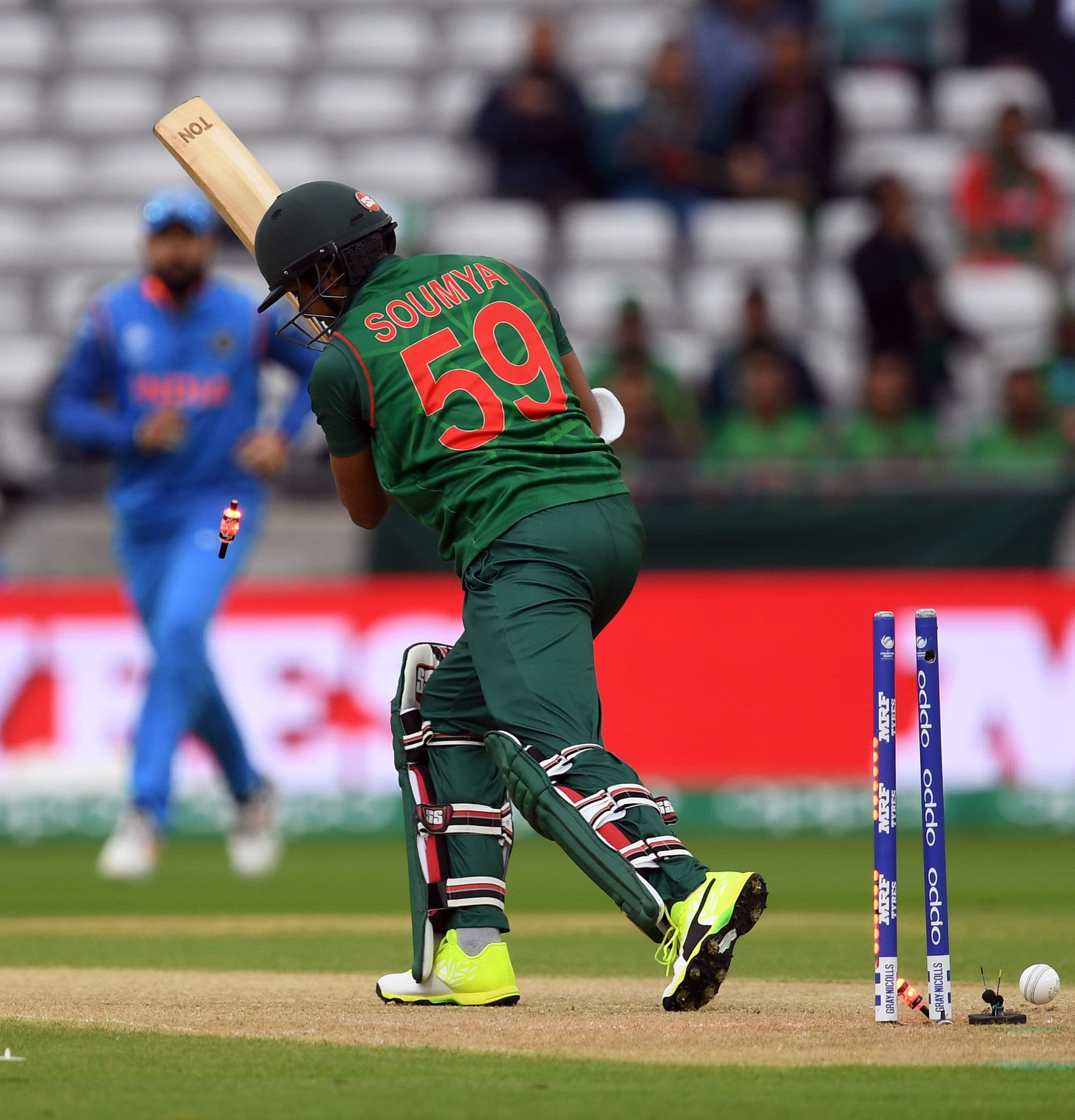 Bangladesh give India 264 runs to chase in Champions Trophy semi-final