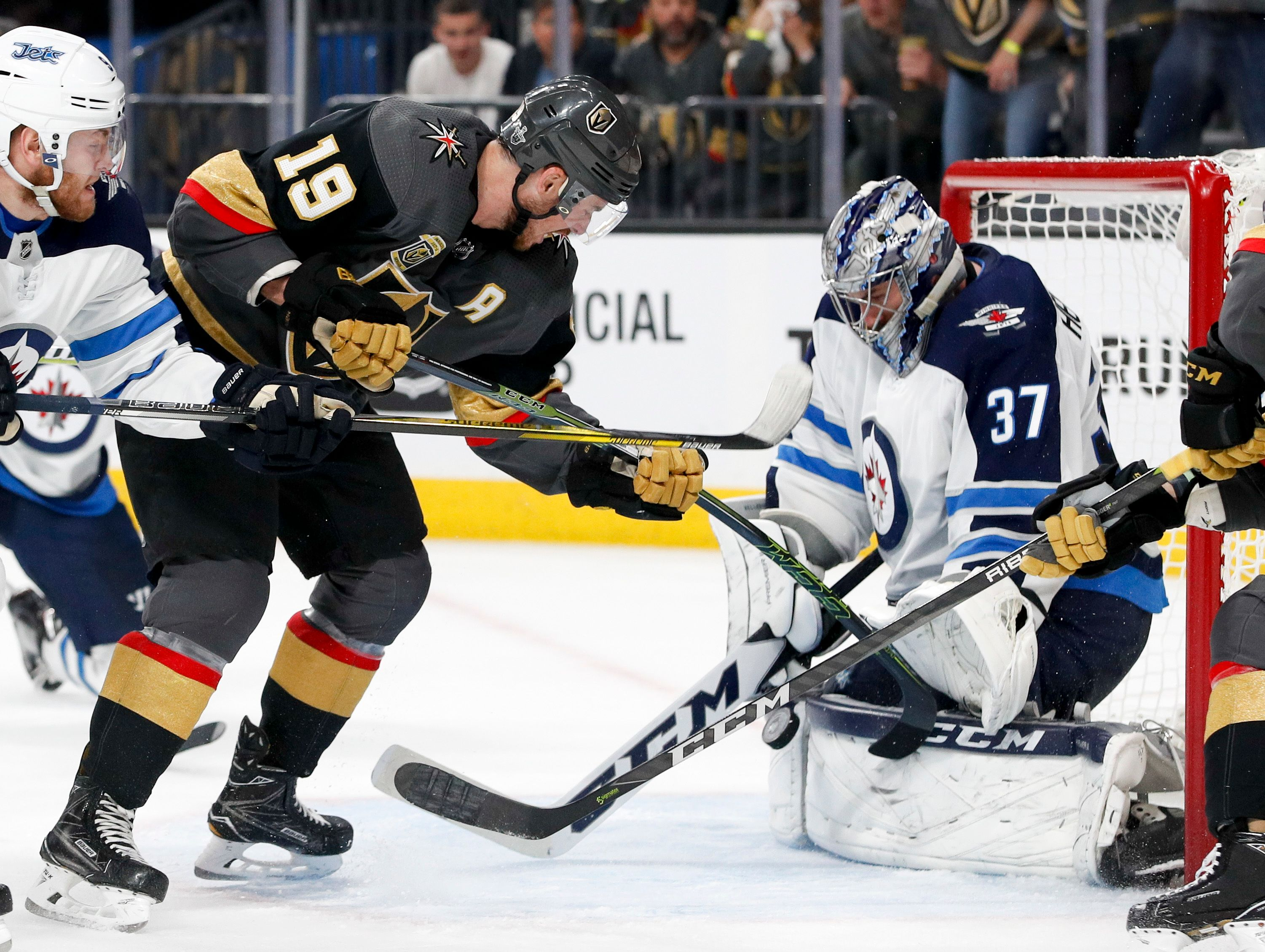 Marchessault scores twice, Golden Knights top Jets 4-2
