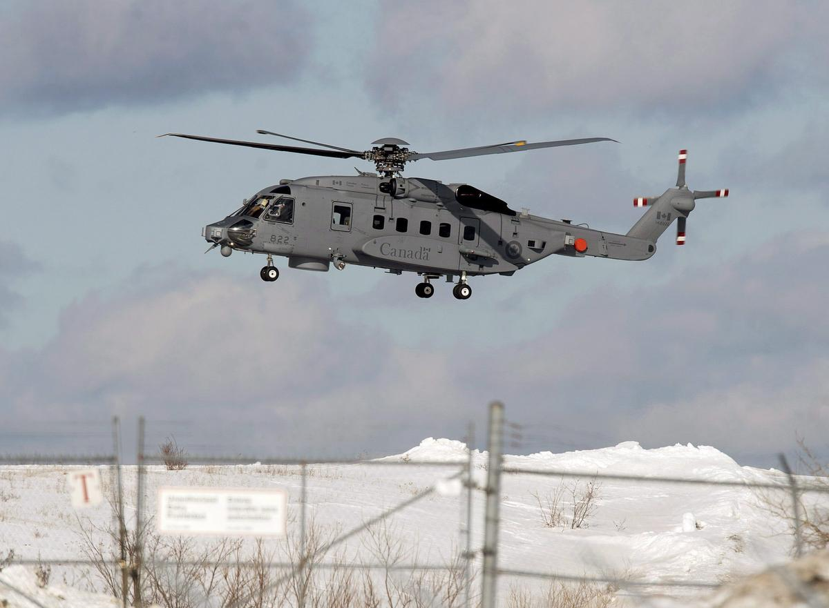 Search continues for Canadian military helicopter that crashed in Mediterranean