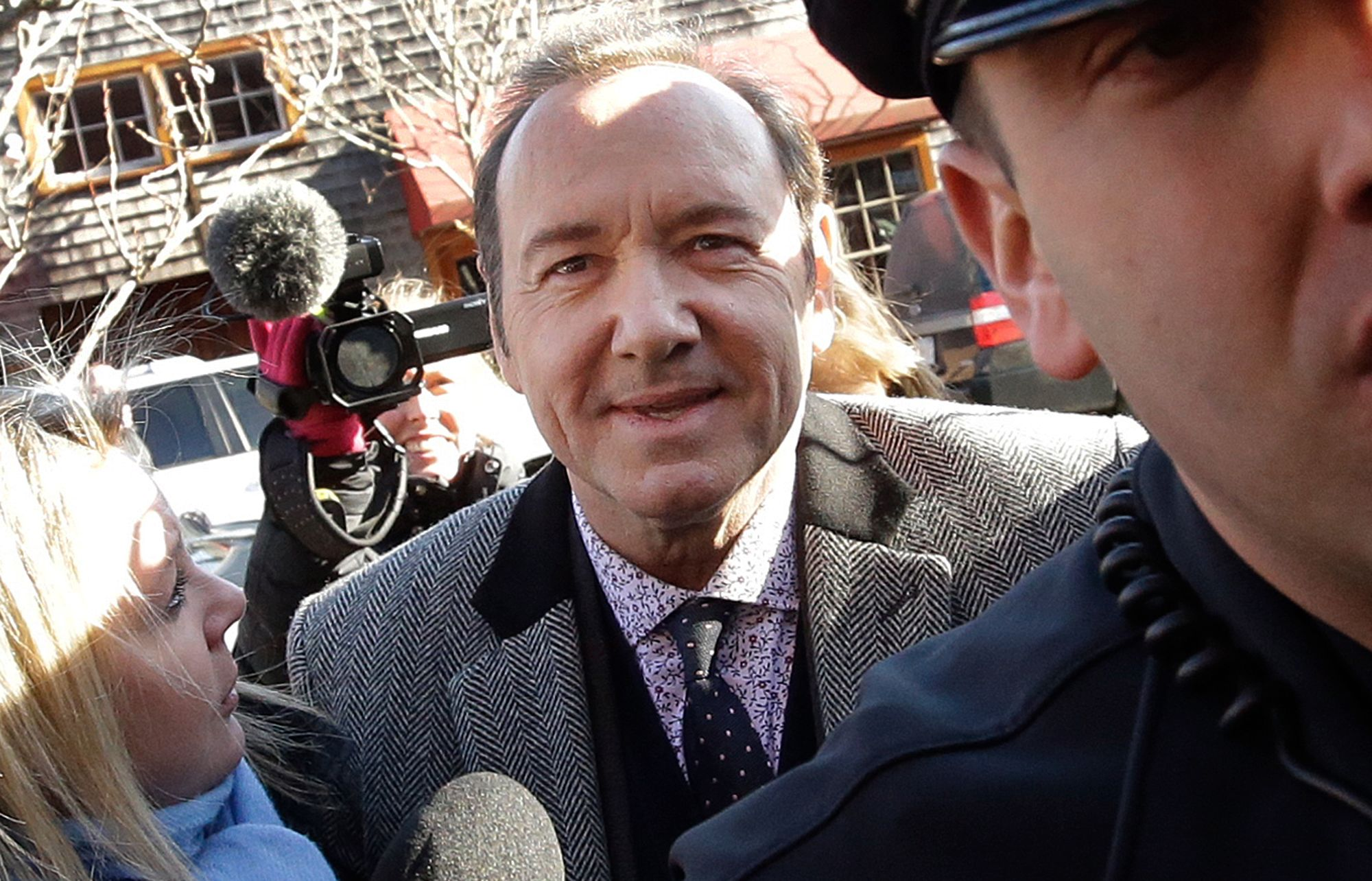 Kevin Spacey makes first court appearance to face sex-crime charge