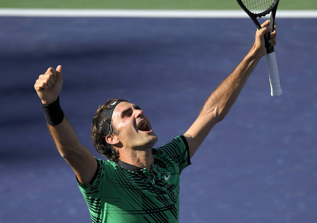 Federer beats Wawrinka for tying 5th Indian Wells title
