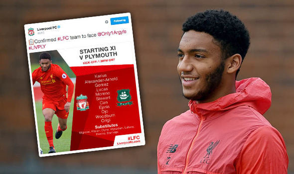 Delighted Liverpool fans rejoice on Twitter as Joe Gomez returns for Plymouth FA Cup clash