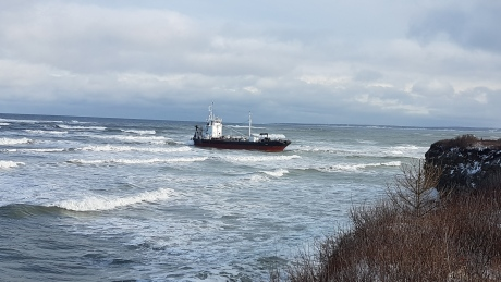 Tanker grounded off Cape Breton not built for long voyages, says union
