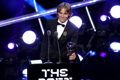 Fifa awards: Luka Modric wins best player, Mohamed Salah left out of world XI