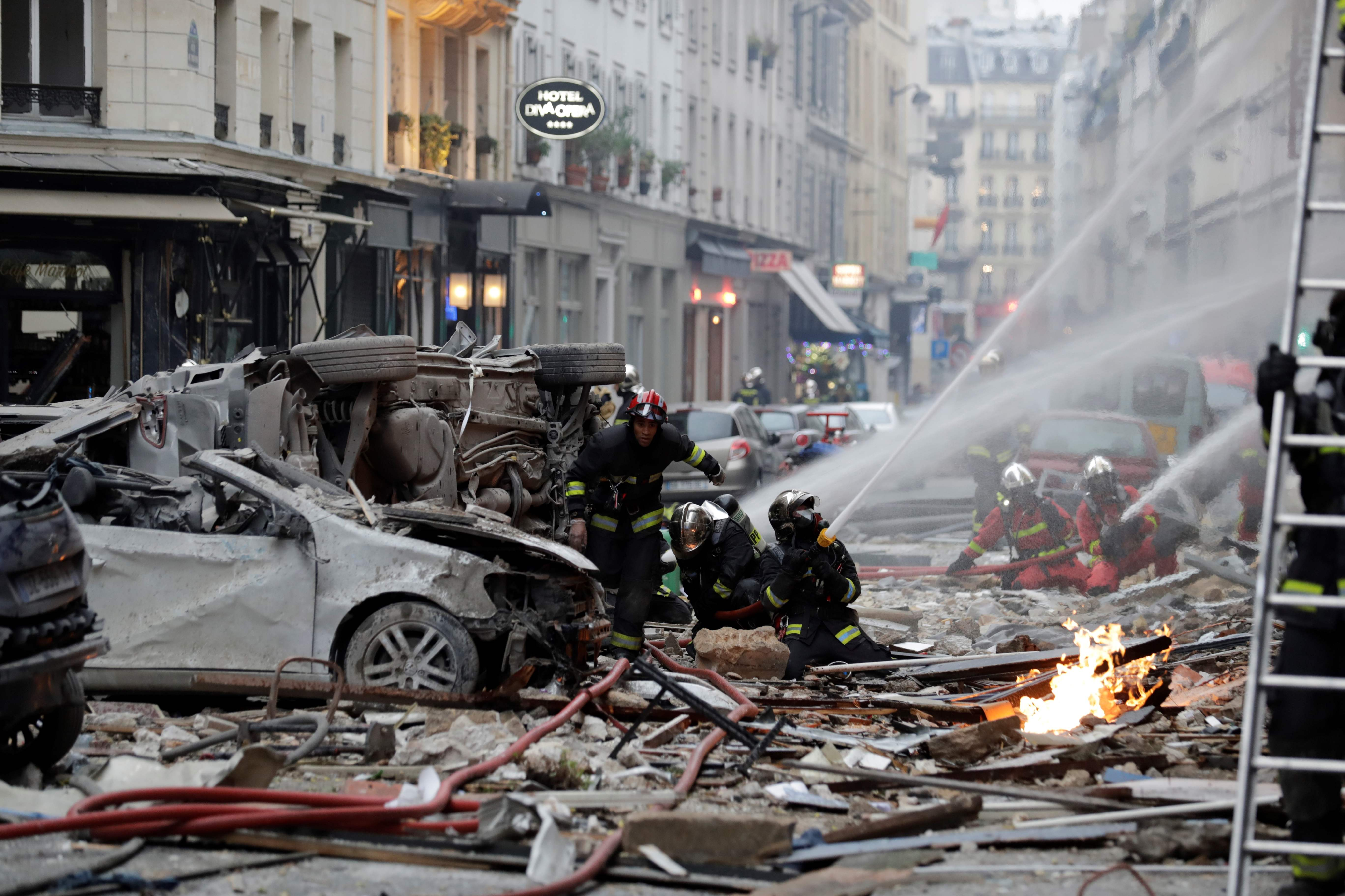 2 firefighters dead, 47 injured after Paris bakery blast, French authorities say