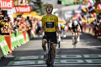 Tour de France: Thomas wins amid hostility on Alpe d'Huez