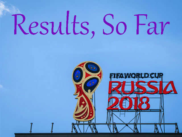 FIFA World Cup 2018: Latest match results
