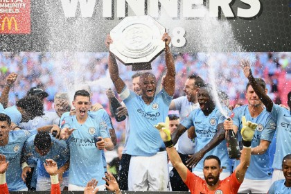 FA Community Shield: Sergio Aguero brace secures the win for Manchester City