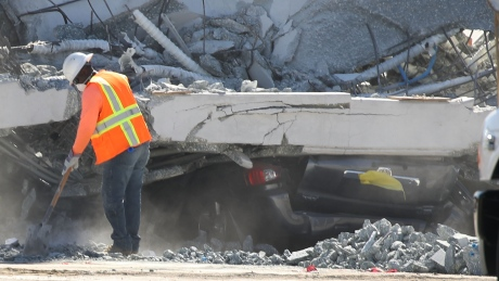 6 confirmed killed in Florida pedestrian bridge collapse