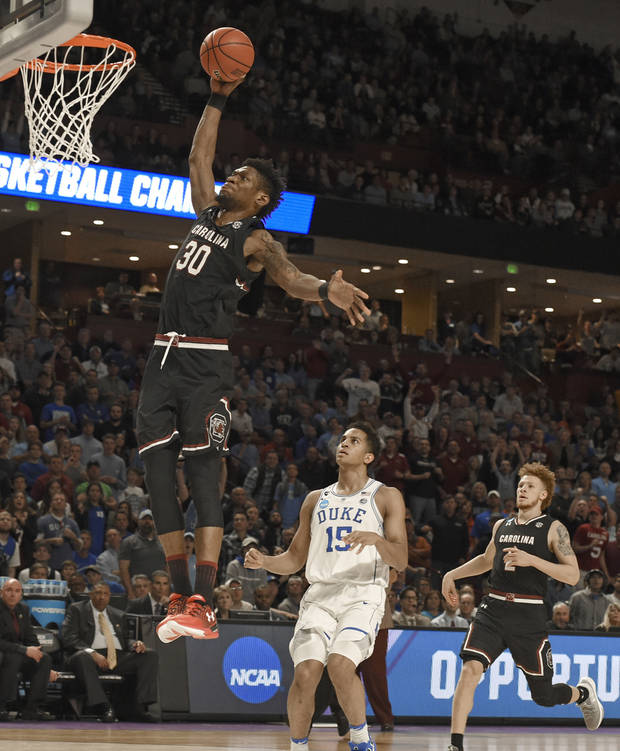 Thornwell leads South Carolina to 88-81 NCAA upset of Duke