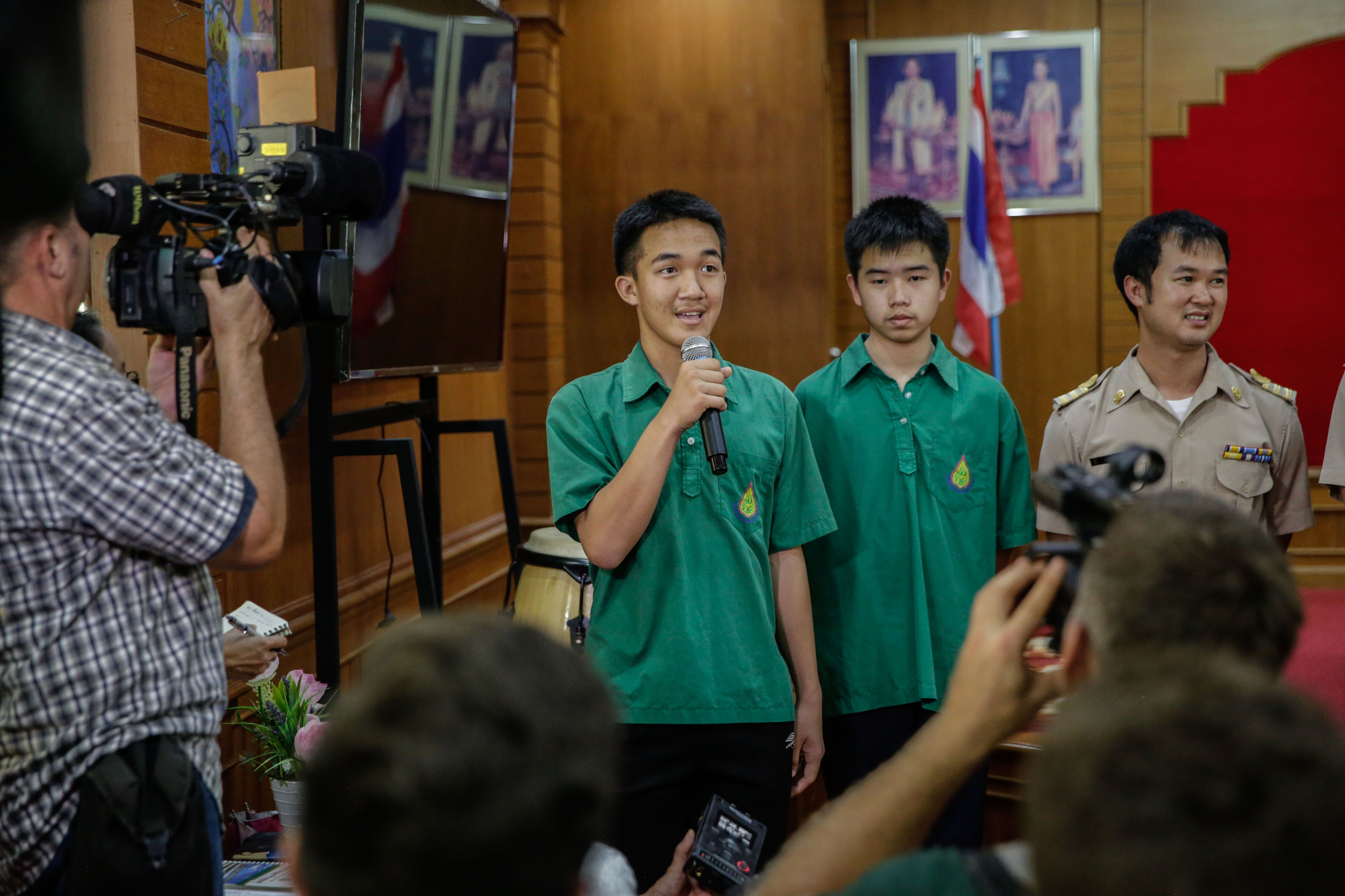 'We're going to eat fried chicken at KFC': Classmates, teachers await return of boys trapped in Thai cave