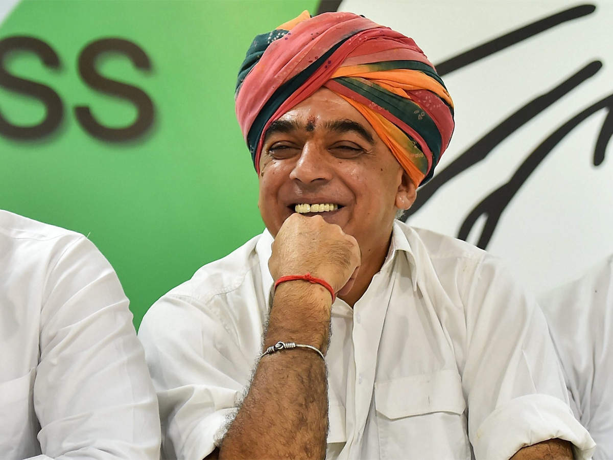BJP MLA Manvendra Singh joins Congress