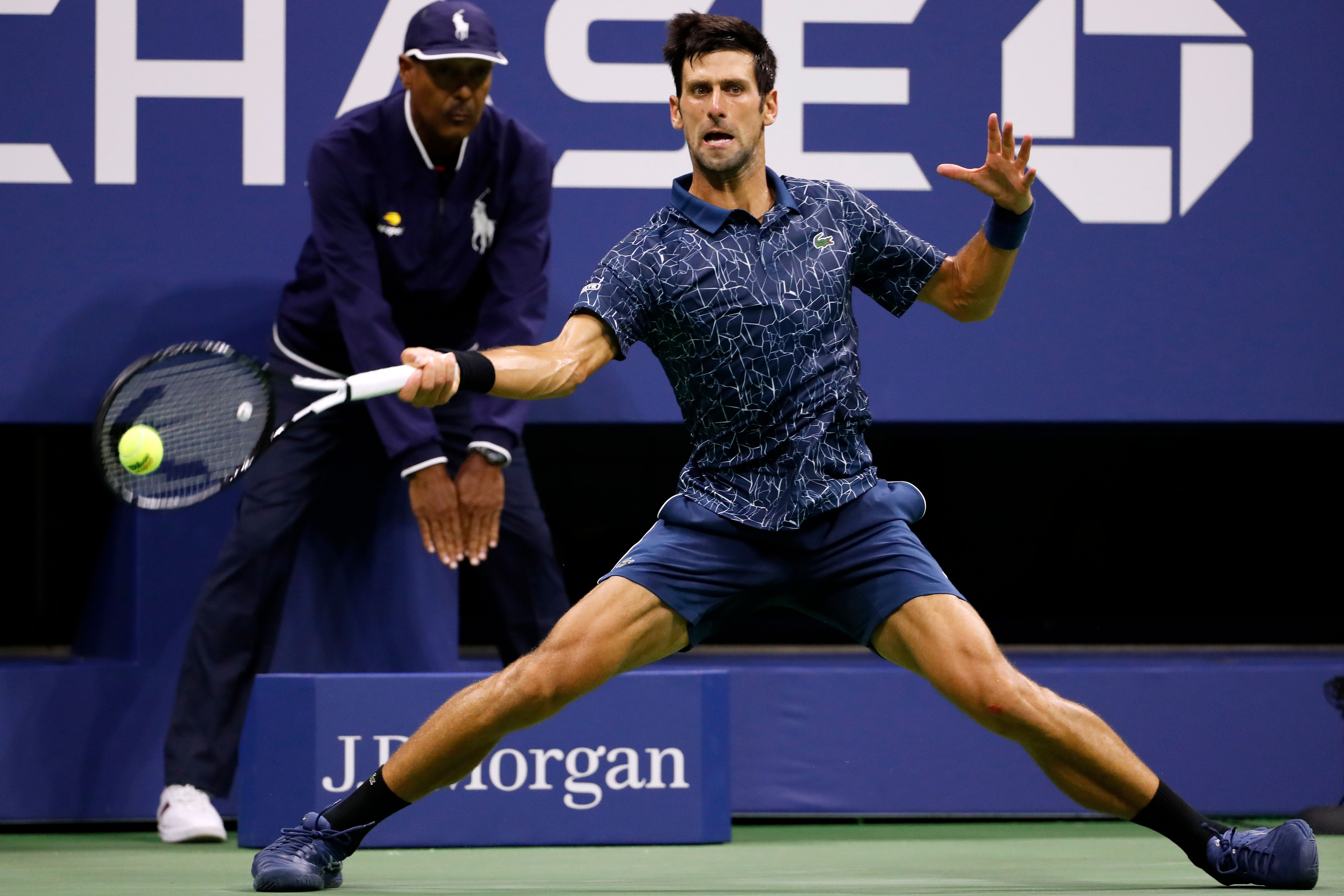 The Latest: Djokovic closer to Federer showdown at US Open