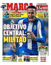 Quiosque: central do FC Porto, Éder Militão objetivo do Real Madrid