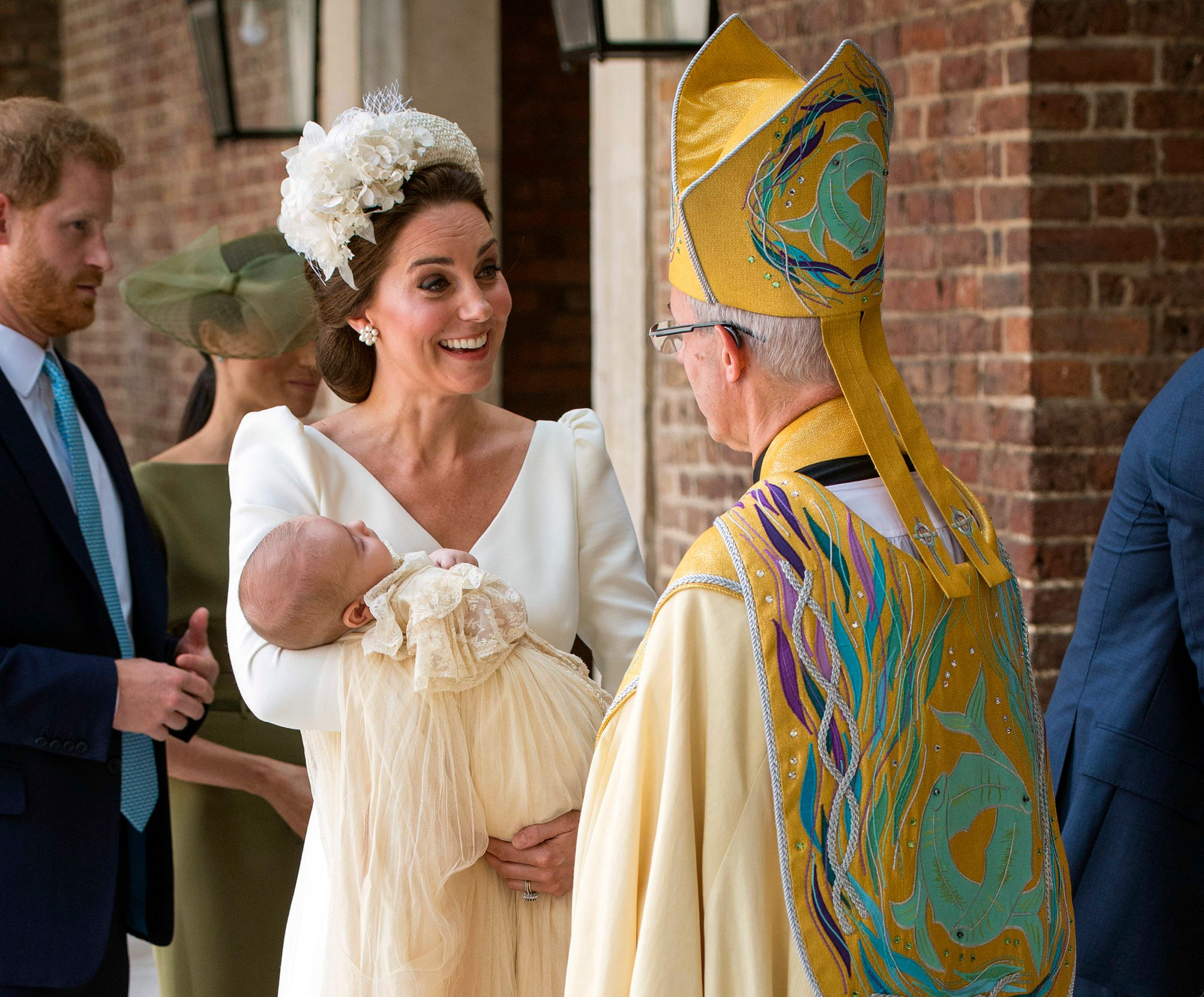 Prince Louis' christening: Will, Kate, George and Charlotte, plus Harry and Meghan, lead celebration