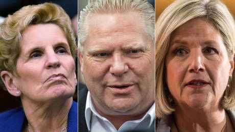 Ontario party leaders square off in 1st debate ahead of election campaign