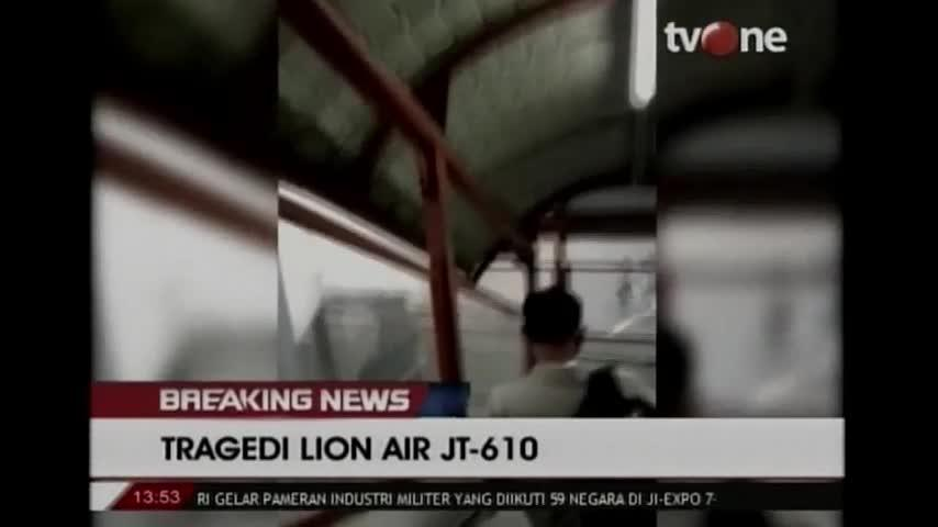 Last moments of Lion Air passengers on video