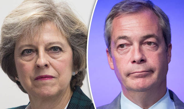 Theresa May REFUSES to say if Nigel Farage peerage has been discussed in Downing Street