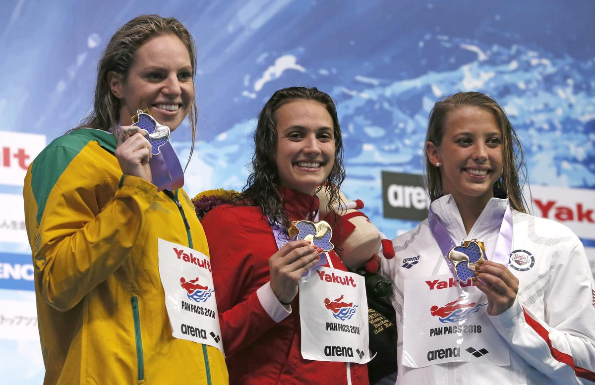 Canadian swimmer Kylie Masse captures gold at Pan Pacific Championships in Tokyo