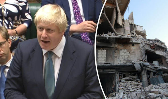 Boris Johnson calls for PROTESTS outside Russian embassy over Syria war