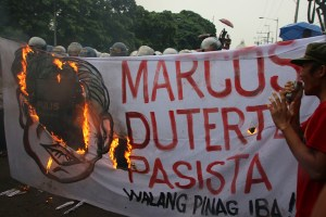 PROTEST ON MARCOS' CENTENIAL