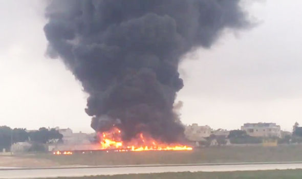EU border officials die in 'fireball' as plane crashes at Malta International Airport