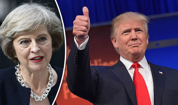 Theresa May congratulates Trump and highlights UK's special relationship with US
