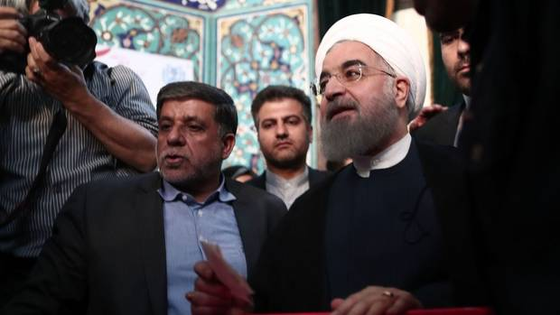 Iran's President Hassan Rouhani Wins Re-Election