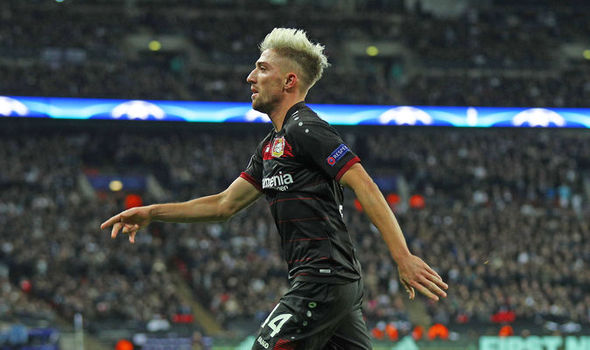 Tottenham 0 - Bayer Leverkusen 1: Kampl strikes to dent Spurs' qualifying hopes at Wembley
