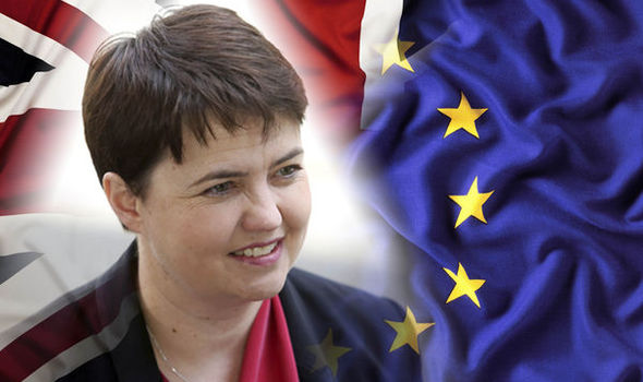 Ruth Davidson risks wrath of Brexiteers as she says immigrants are welcome in Britain
