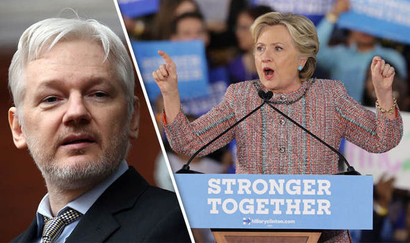 Hillary Clinton campaign blasts Julian Assange's Wikileaks as 'Russian propaganda'