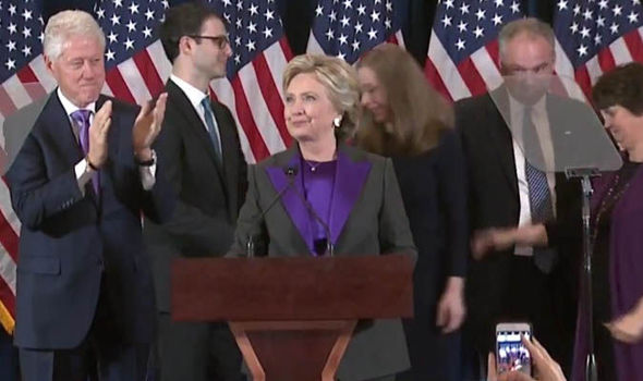 'This is painful & will be for a long time' Teary Hillary Clinton after US election defeat