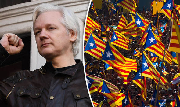 Assange predicts Catalonia independence referendum could spark CIVIL WAR in Spain