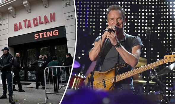 Sting takes to Bataclan stage to reopen venue one year after Paris terror attacks