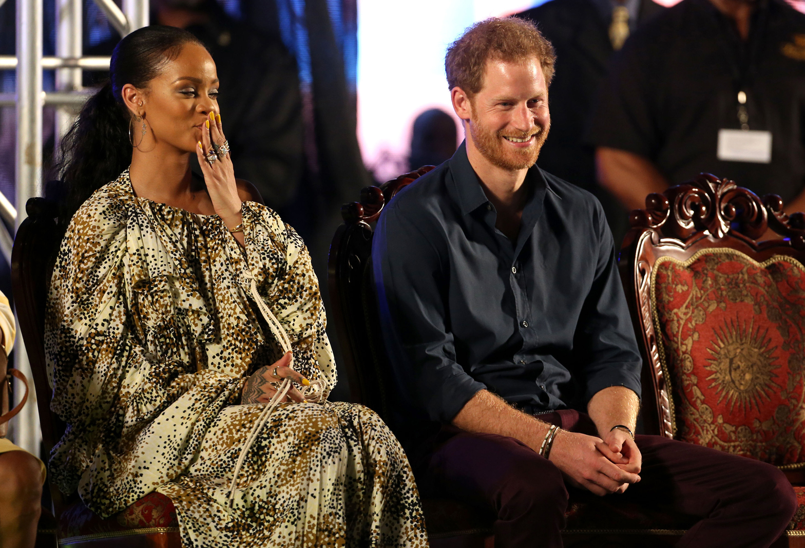 Rihanna and Prince Harry meet at Barbados celebration