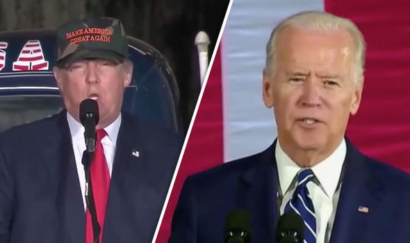 Donald Trump says he would 'love' to fight 'tough guy' Joe Biden