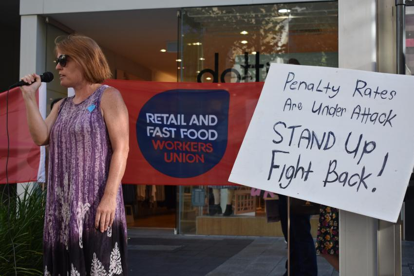 A mass union campaign is needed to defend penalty rates